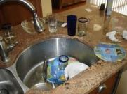 See? My own dirty dishes!