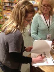 My book, Little Rock Girl, which I got to sign!