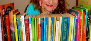 My reader and her books.