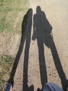 Me. My kiddo. Even our shadows were thick as thieves.