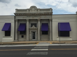 This is the bank in Mansfield where Laura and Almanzo secured a loan to buy the farm. We ate lunch at a Mexican restaurant across the street, which was the only restaurant in the tiny town square.