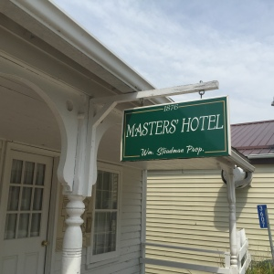 I knew a 1800s hotel would be small, but the Masters Hotel is really, really small. It's about the size of a house.
